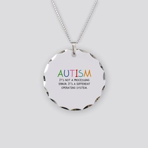 Autism Operating System Necklace Circle Charm
