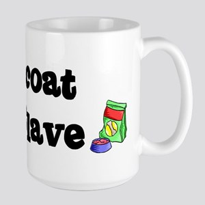 Flatcoat FOOD SLAVE Large Mug