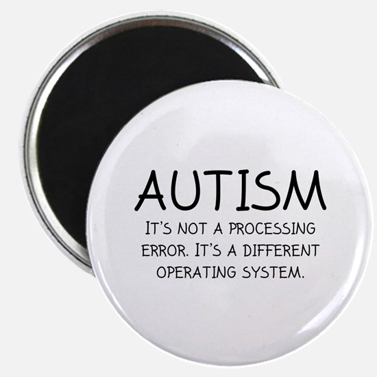 "Autism Operating System 2.25"" Magnet (10 pack)"