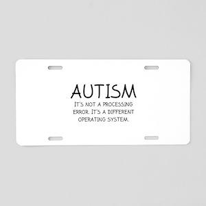 Autism Operating System Aluminum License Plate