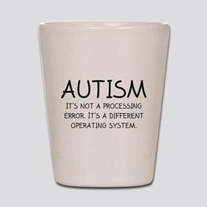 Autism Operating System Shot Glass
