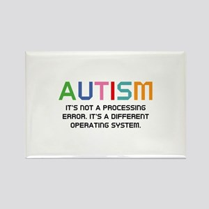 Autism Operating System Rectangle Magnet (10 pack)