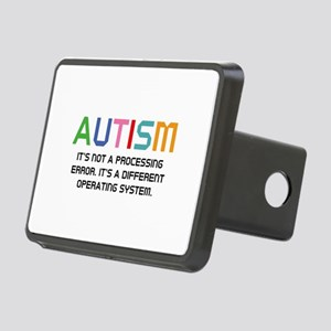 Autism Operating System Rectangular Hitch Cover