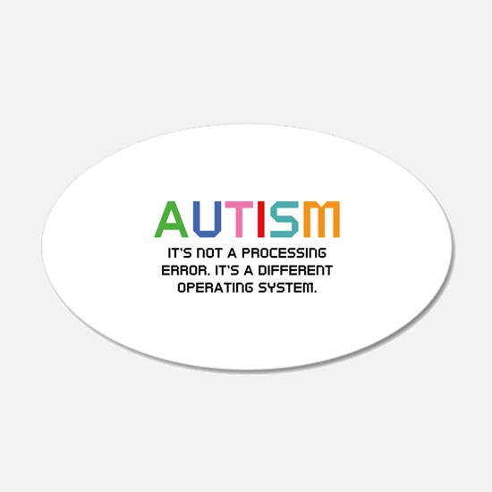 Autism Operating System 22x14 Oval Wall Peel