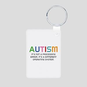 Autism Operating System Aluminum Photo Keychain
