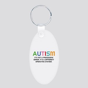 Autism Operating System Aluminum Oval Keychain