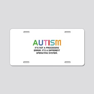 Autism Operating System Aluminum License Plate