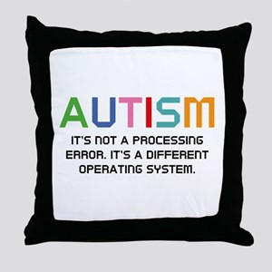 Autism Operating System Throw Pillow