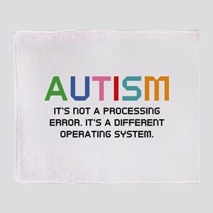 Autism Operating System Stadium Blanket