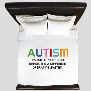Autism Operating System King Duvet