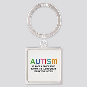 Autism Operating System Square Keychain