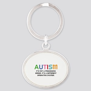 Autism Operating System Oval Keychain