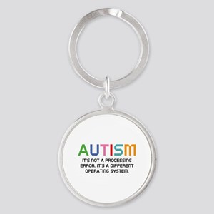 Autism Operating System Round Keychain