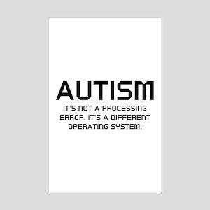 Autism Operating System Mini Poster Print