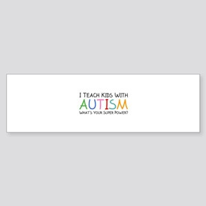 I Teach Kids With Autism Sticker (Bumper)