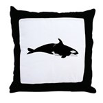 Biting Orca Whale Throw Pillow