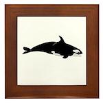 Biting Orca Whale Framed Tile