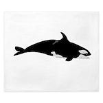 Biting Orca Whale King Duvet