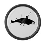 Biting Orca Whale Large Wall Clock