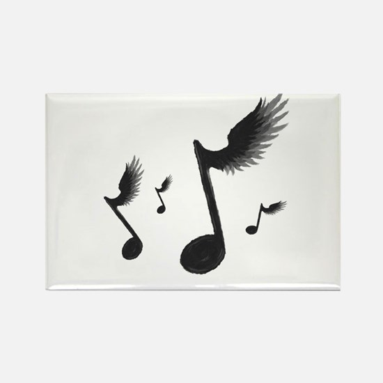 Flying Notes Rectangle Magnet