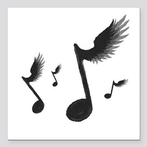 """Flying Notes Square Car Magnet 3"""" x 3"""""""