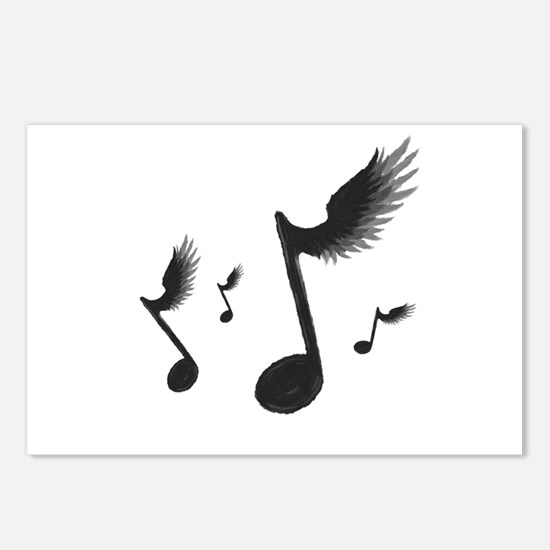 Flying Notes Postcards (Package of 8)