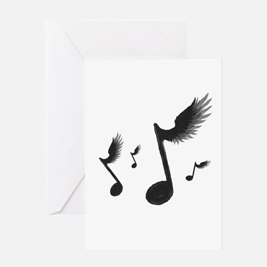 Flying Notes Greeting Card