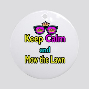 Crown Sunglasses Keep Calm And Mow The Law Ornamen