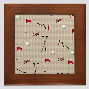 Hole in One Golf Equipment on Tan Argyle Framed Ti