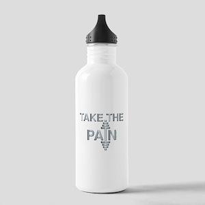TAKE THE PAIN (large design) Stainless Water Bottl