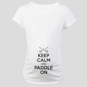 Keep Calm Paddle On Maternity T-Shirt