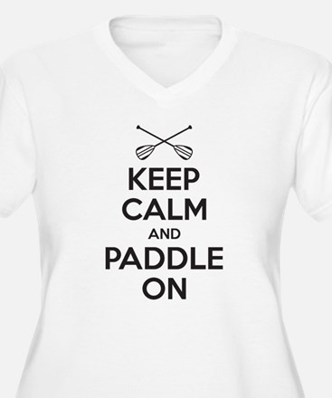 Keep Calm Paddle On Plus Size T-Shirt