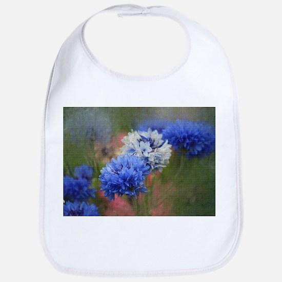 Blue Floral Bib