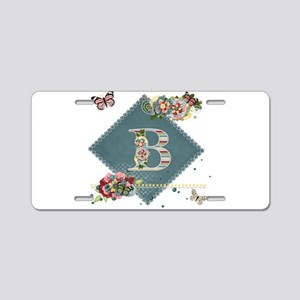 Dreamland Monogram B Aluminum License Plate