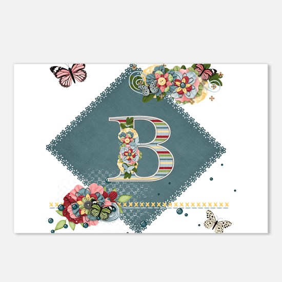 Dreamland Monogram B Postcards (Package of 8)