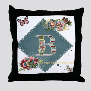 Dreamland Monogram B Throw Pillow