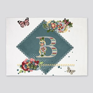 Dreamland Monogram B 5'x7'Area Rug