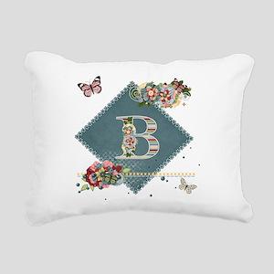 Dreamland Monogram B Rectangular Canvas Pillow