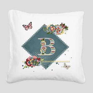 Dreamland Monogram B Square Canvas Pillow