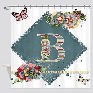 Dreamland Monogram B Shower Curtain