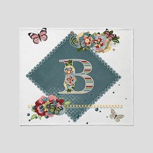 Dreamland Monogram B Throw Blanket