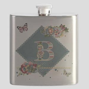 Dreamland Monogram B Flask