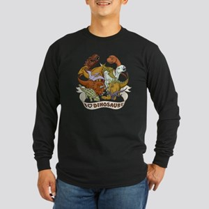I Heart Dinosaurs Long Sleeve Dark T-Shirt