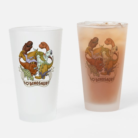 I Heart Dinosaurs Drinking Glass