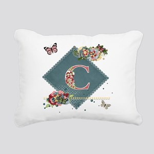 Dreamland Monogram C Rectangular Canvas Pillow