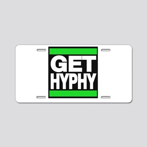 get hyphy lg green Aluminum License Plate
