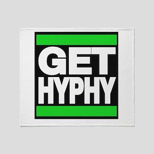 get hyphy lg green Throw Blanket