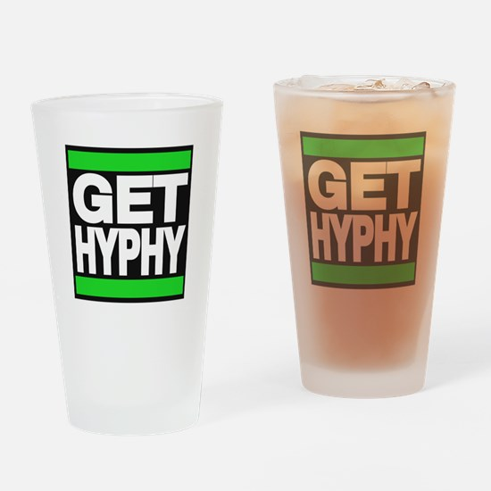 get hyphy lg green Drinking Glass