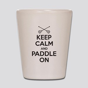 Keep Calm Paddle On Shot Glass