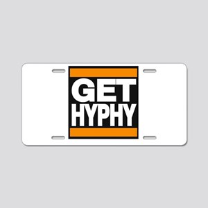 get hyphy lg orange Aluminum License Plate